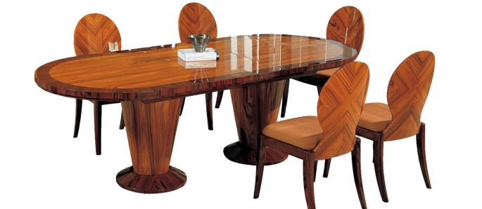 Wood Table With Decorative Glass Table Top