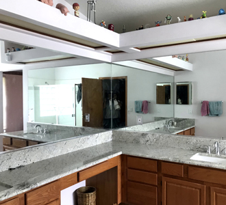Custom Mirrors Installed on Personal Room
