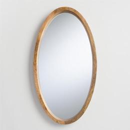 oval custom glass mirror