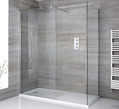 wet rooms with glass shower door
